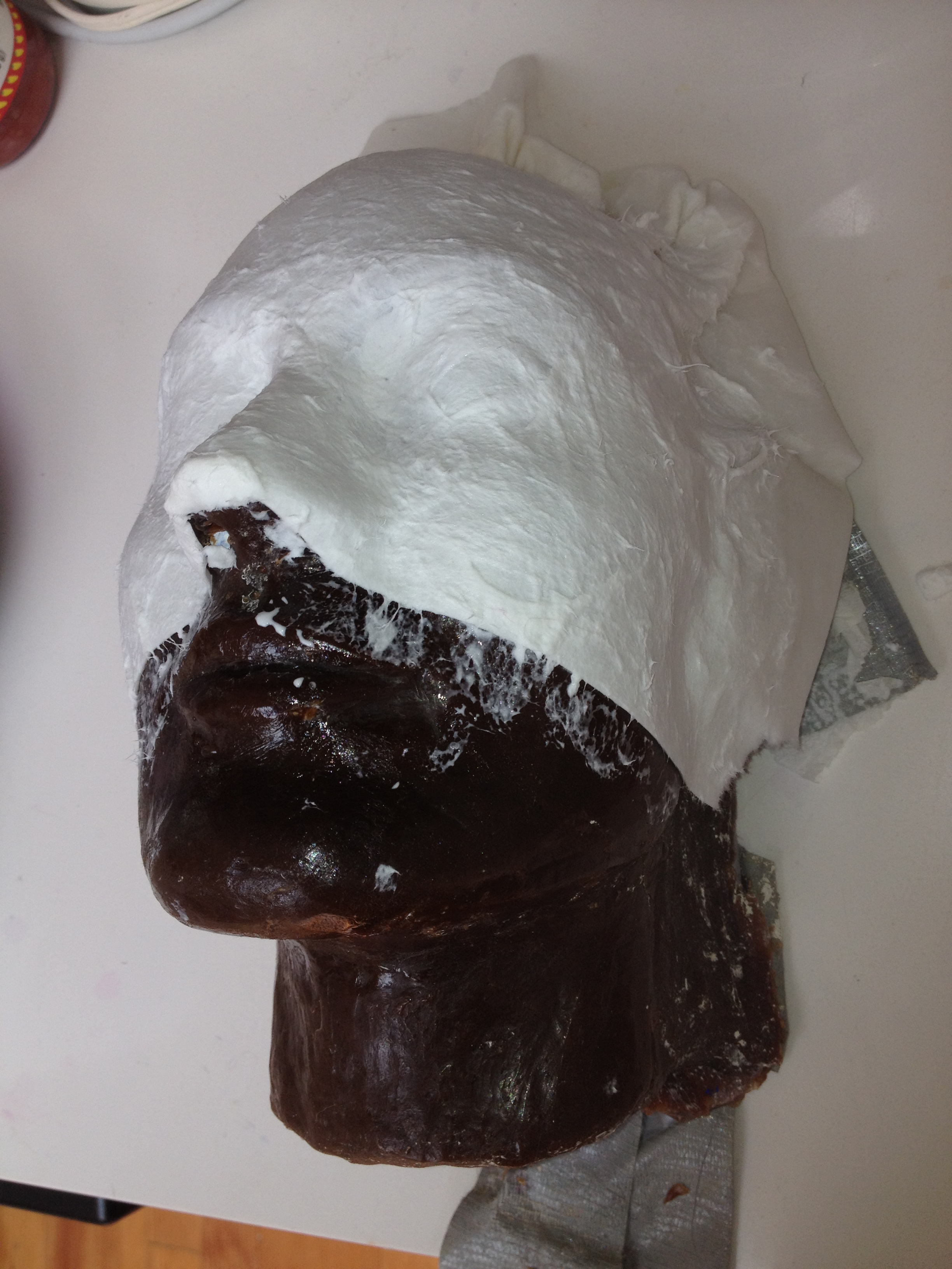 how to make a mold of your face with alginate