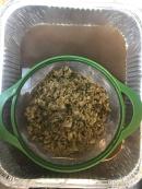 straining artichoke